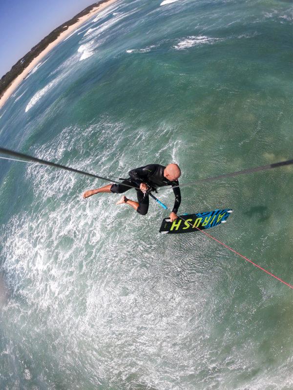 old school kiteboarding