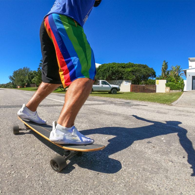 Ced Vandenschrik skateboarding with Vibram Five Fingers