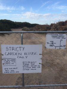 Gate garden refuse